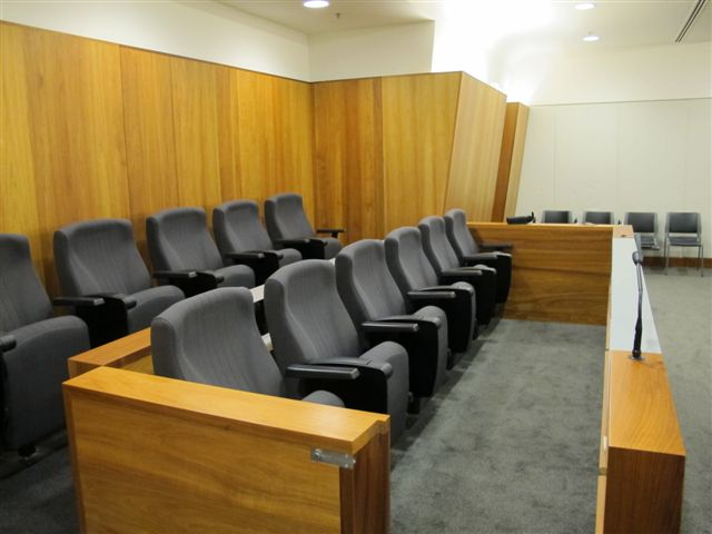 Twelve person Jury Box, Court 1.9