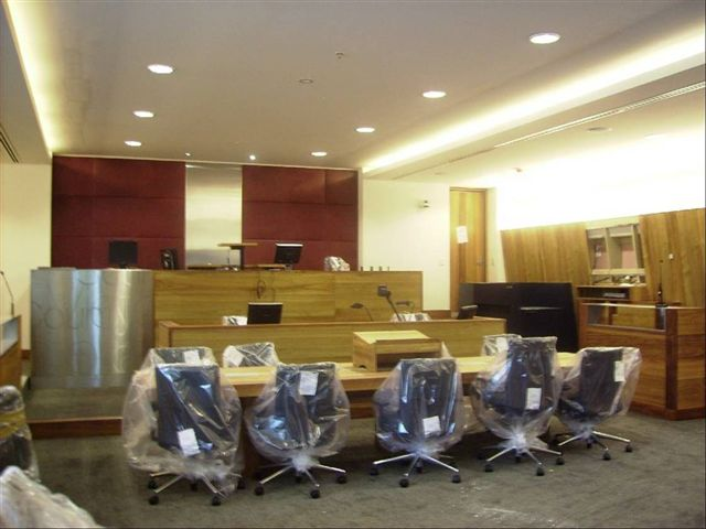 Courtroom final stages