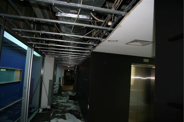 Level 4 passage, ceiling collapse